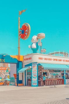 funfair photography – in pictures Paul's diner, Coney Island fairground in New York City photographed by Australian photographer Ben Thomas.Paul's diner, Coney Island fairground in New York City photographed by Australian photographer Ben Thomas.