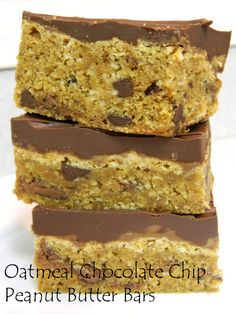 My Favorite Things: Oatmeal Chocolate Chip Peanut Butter Bars