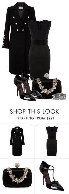 """""""All black everything!"""" by atenaide86 ❤ liked on Polyvore featuring Diesel, Roger Vivier, Dolce&Gabbana and David Yurman"""
