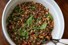 Ensalada de lentejas Seaweed Salad, Ethnic Recipes, Food, Lentil Salad, Legumes, Beverages, Homemade, Food Items, Essen