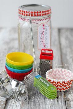 Baking Supplies Mason Jar Gift