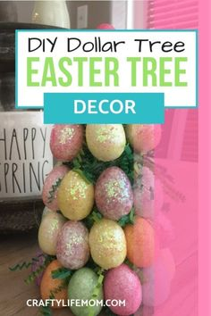 DIY Easter Egg Centerpiece using dollar store items