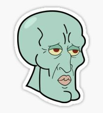 HANDSOME SQUIDWARD Pegatina