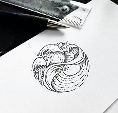 Tattoo designs by Sollefe on We Heart It .- Tattoo designs by Sollefe💓 on We Heart It – diy tattoo images - Tattoo Design Drawings, Tattoo Sketches, Drawing Sketches, Tattoo Designs, Marinha Wallpaper, Et Tattoo, Tattoo Wave, Surf Tattoo, Male Tattoo
