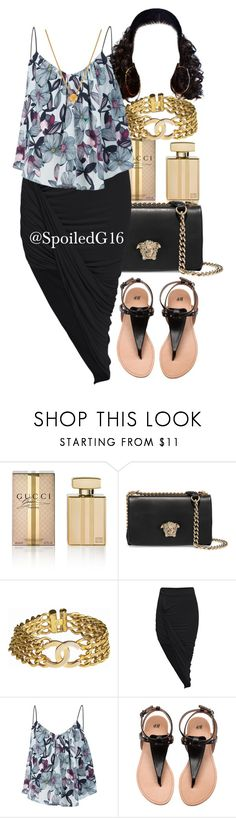 """Saucy!"" by spoiledg16 ❤ liked on Polyvore featuring Gucci, Versace, Chanel, Sam&Lavi and Lee Renee"