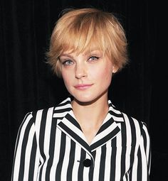 Great style for growing out a pixie crop.