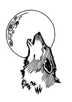 Coloriage du hurlement du loup