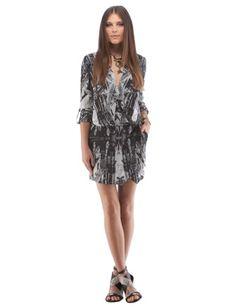 CYNTHIA VINCENT Drop-Waist Mini Dress