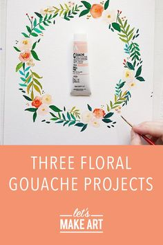 Follow along with our beginner-friendly gouache tutorials to get started. The following videos are some of the very first ones we released back in 2018. These pretty florals are still something to rave about! Below each tutorial you'll find a list of recommended supplies used to create the project. If you don't have all the same supplies listed, You can still create any of these projects with the tools you have at home. Watercolor Art Diy, Step By Step Watercolor, Watercolor Projects, Watercolor Tutorials, Watercolor Techniques, Painting Tutorials, Art Tutorials, Gouache Tutorial, Let's Make Art