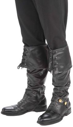 Forum Novelties Men's Deluxe Adult Pirate Boot Covers with Studs, Black, One Size Forum Novelties http://smile.amazon.com/dp/B005TOHX0M/ref=cm_sw_r_pi_dp_Fs6Gub1ETMQGT