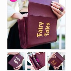 HOST PICKBRAND NEW burgundy Fairy Tales clutch BRAND NEW burgundy Fairy Tales clutch. RESERVED Skinny bags Bags Clutches & Wristlets