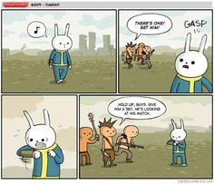 A Fallout Timeout [Comic] Fallout 4 Funny, Fallout Tips, Fallout Comics, Fallout Art, Video Game Memes, Video Games, Funny Comic Strips, Fall Out 4, Gamers