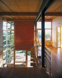 Gosline residence - bohlin, cywinski Jackson.  I like the ganged industrial windows in the corner