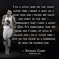 Stephen Curry sign on the court