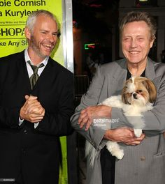 Writer/director Martin McDonagh  &   Christopher Walken with Bonny  the ShihTzu  at the Los Angeles premiere of 'Seven Psychopaths' at Mann Bruin Theatre on October 1, 2012 in Westwood, California.