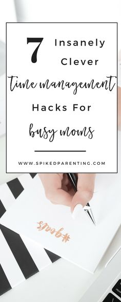Hey there #motherhustler. Is your to-do list stressing you out? Check out these 7 time management hacks for busy moms and start getting more done today!