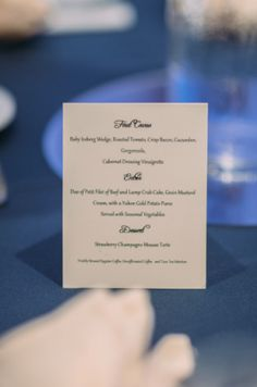 Washington DC Wedding Menu Cards 275x415 Classic and Sophisticated Wedding Reception in Virginia DC: Karen + Selvin