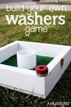 Fun DIY Backyard Games - DIY Washers Game - Cool DIY Yard Game Ideas for Adults, Teens and Kids - Easy Tutorials for Cornhole, Washers, Jenga, Tic Tac Toe and Horseshoes - Cool Projects for Outdoor Parties and Summer Family Fun Outside Diy Yard Games, Diy Games, Lawn Games, Giant Yard Games, Diy Yard Toys, Free Games, Tic Tac Toe, Cool Diy, Easy Diy