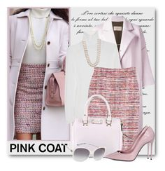 """""""Pink Coat"""" by brendariley-1 ❤ liked on Polyvore featuring Christian Wijnants, Yves Saint Laurent, Belle de Mer, Kate Spade, Dolce&Gabbana, M Missoni and pinkcoats"""