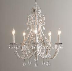 Palais Large Chandelier - Rustic White