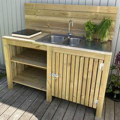 Diy Pallet Furniture, Garden Furniture, Outdoor Furniture, Outdoor Decor, Diy Outdoor Kitchen, Home Renovation, Garden Inspiration, Home Interior Design, Future House