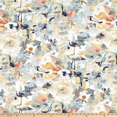 Swavelle Rezzori Oasis from @fabricdotcom  From Swavelle/Mill Creek, this versatile medium weight cotton duck fabric is printed. Perfect for window treatments (draperies, valances, swags), toss pillows, and lighter upholstery projects.