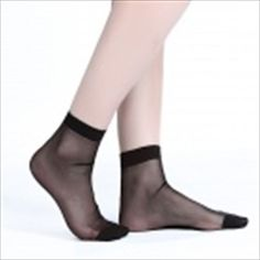 ZHIBUREN Autumn And Winter Warm Crystal Silk Socks - Black (5 Pair) Silk Socks, Stockings, Pairs, Autumn, Crystals, Winter, Clothes, Black, Fashion