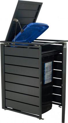 Garbage Shed, Garbage Can Storage, Garbage Recycling, Shed Storage, Storage Bins, Bin Store Garden, Aluminium Box, Steel Garden Edging, Bin Shed