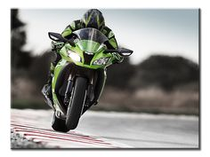 Wide Open Throttle Canvas Wall Art - Extra Large 1-panel 40 x 30 inches