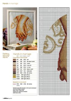 Hands In Marriage (Maria Diaz) From Cross Stitch Collection N°261 May 2016 3 of 5