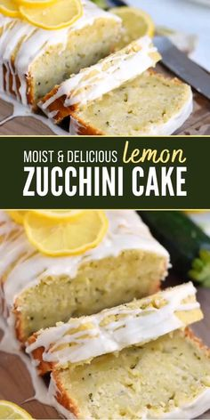 Lemon Zucchini Cakes, Zucchini Desserts, Zucchini Bread Recipes, Zuchinni Lemon Bread, Lemon Dessert Recipes, Mexican Food Recipes, Healthy Lemon Recipes, Recipes With Lemon, Vegan Lemon Desserts