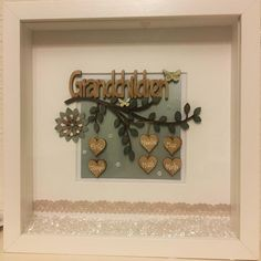 Items similar to Personalised Grandparents Gift, Customised Grandparent Gift, Gift from Grandchildren, Grandparents Thank you Gift, Christmas box frame gift on Etsy Christmas Box Frames, Family Tree Frame, White Box Frame, Personalised Cushions, Personalized Gifts, Handmade Gifts, Fabric Gifts, Grandparent Gifts, Wooden Hearts