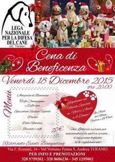 18/12 Cena di beneficenza organizzata dalla #LegadelCane di #Teramo