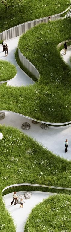 Penda (Chris Precht) Where The River Runs / Garden Expo 2015 Villa Architecture, Landscape Architecture Design, Green Architecture, Landscape Architects, Architecture Definition, Urban Park, Expo 2015, Parcs, Urban Planning