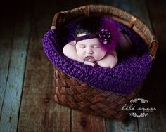 Chunky baby blanket newborn photo prop bucket bowl basket stuffer  purple 18 x 18 photography prop by Lifeinmypjs on Etsy https://www.etsy.com/listing/113020268/chunky-baby-blanket-newborn-photo-prop