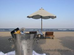 Bombastic afternoon at Amanusa Resort's private beach in Bali.