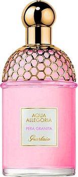 À l'aube de l'été 2016, Guerlain propose une nouvelle version de son eau de toilette estivale Aqua Allegoria répondant au doux nom de Pera Granita. Son joli flacon délivre des notes fraîches de bergamote et de poire.