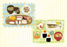 Japanese foods vector EPS 10