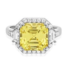 Diamonvita Couture Asscher Cut Swarovski Zirconia Ring in Sterling Silver - Diamonvita Rings - Diamonvita - Collections - #helzbergdiamonds #pingagement