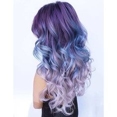 25 Amazing Blue and Purple Hair Looks ❤ liked on Polyvore featuring hair