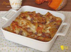 Pasta+al+forno+zucca+e+salsiccia