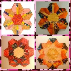 Pieced Hexi's by Mickey Depre-  very modern take on old fashioned hexagon's