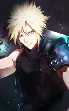 Final Fantasy Vii, Final Fantasy Characters, Final Fantasy Artwork, Fantasy Wolf, Fantasy Series, Cloud And Tifa, Cloud Strife, Gamers Anime, Animes Wallpapers
