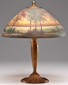 Rare Pittsburgh Autumn Lamp w/ Bronze Owl Base c. 1915 ...