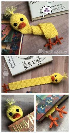 Amigurumi Duck Bookmark Free Crochet Pattern - DIY Magazine - clothing The Effective Pictures Crochet Bookmarks, Crochet Books, Crochet Gifts, Cute Crochet, Crochet For Kids, Crochet Amigurumi Free Patterns, Crochet Bookmark Patterns Free, Crochet Mouse, Yarn Crafts