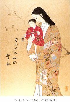 Virgen del Monte Carmelo. Version Japonesa.
