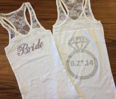 Personalized Bride Tank Top with Wedding Date by Deighan Design | Hatch.co