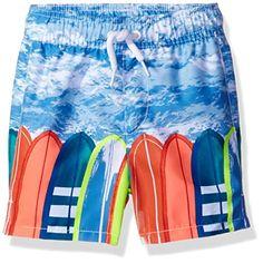 The Children's Place Boys' Li'l Guy's Printed Trunks Swim Shorts, Blue Hole, 18-24 Months Baby Boy Clothes