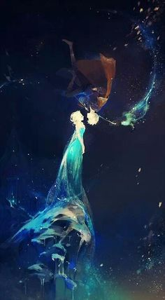 Elsa and Jack Frost - Frozen and The rise of the guardians