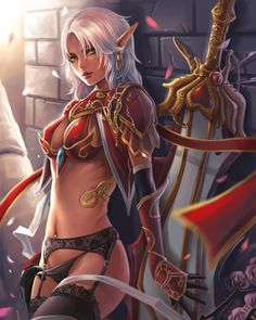 World of Warcraft WOW Blood Elf Wall